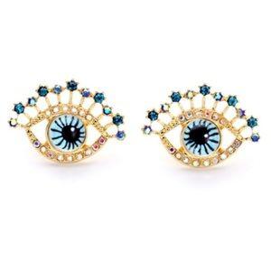 Crystal Eye Statement Earrings